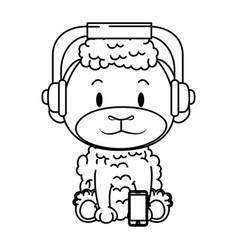 Cute little sheep character vector