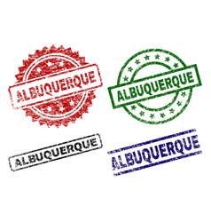 damaged textured albuquerque stamp seals vector image