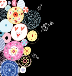 Decorative background from circles vector image