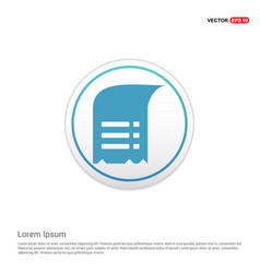 document icon - white circle button vector image