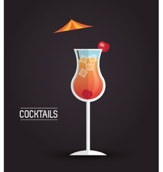 Drink menu cocktail restaurant bar design vector
