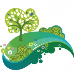 Eco nature design vector