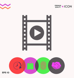 Film strip with play vector