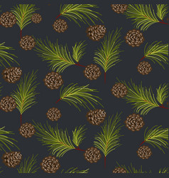fir cones seamless pattern vector image