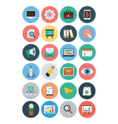 Flat SEO and Marketing Icons 1 vector image