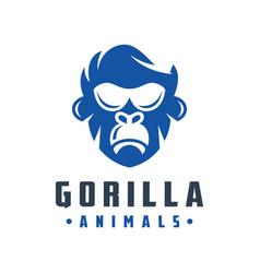 Gorilla head logo design vector