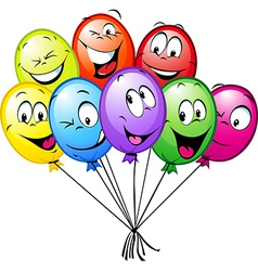 group of funny colorful balloons vector image