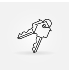 House keys minimal icon vector