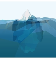 Iceberg polygonal background vector