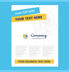 internet browsing title page design for company vector image