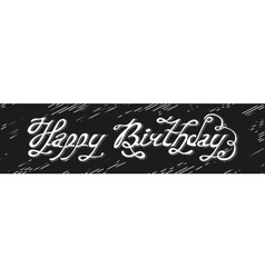 Isolated abstract white color happy birthday vector image
