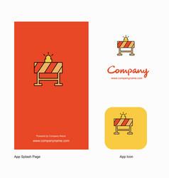 labour board company logo app icon and splash vector image