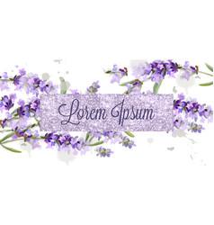 lavender card watercolor flowers bouquet vector image
