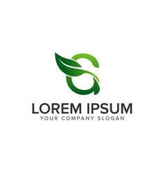 letter g leaf logo design concept template fully vector image
