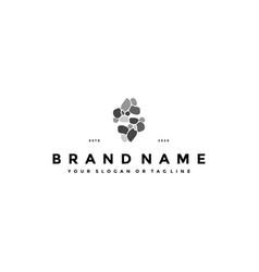 Letter s stone logo design vector