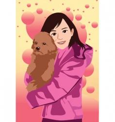 love dog vector image