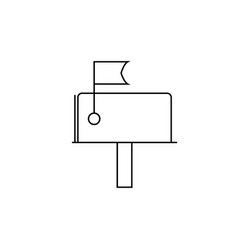 mail box icon vector image