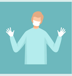 male surgeon doctor professional medical worker vector image