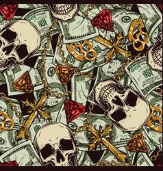 Money vintage seamless pattern vector