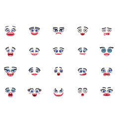 Monster icons set with eyes and mouths vector