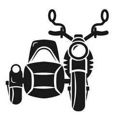 Motorbike with carriage icon simple style vector