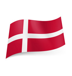National flag of denmark white scandinavian cross vector