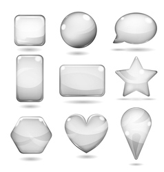 Opaque gray glass shapes vector