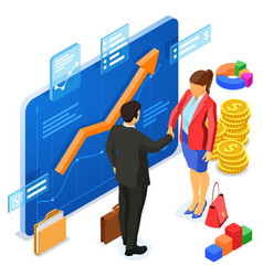 partnership handshake business man and woman vector image