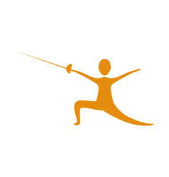 people practicing fencing icon vector image
