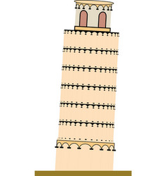 piza tower italy icon design vector image