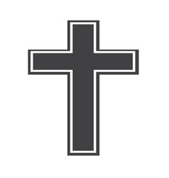religion cross icon vector image