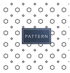 retro geometric pattern white background im vector image