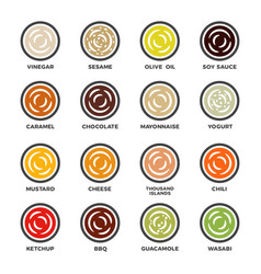 Sauce icon set vector