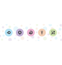 Scan icons vector
