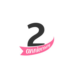 Second anniversary logo number 2 vector