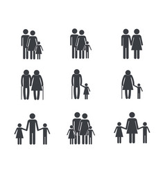 Set family member group together vector