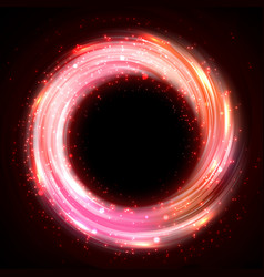 shining pink bokeh vector image