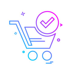 shopping icon design vector image