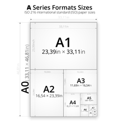 Size of format a paper sheets vector