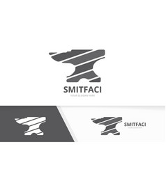smith logo combination blacksmith symbol vector image