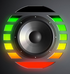 speaker and equalizer vector image