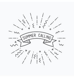 Summer calling Inspirational vector