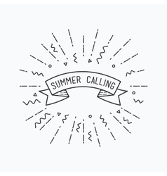 Summer calling Inspirational vector image