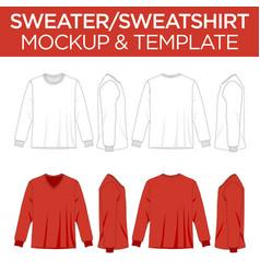 Sweatshirts sweaters - template mockup vector