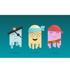 Three cute octopuses vector