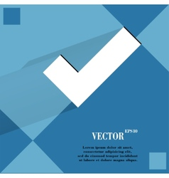 Tick Flat modern web design on a flat geometric vector