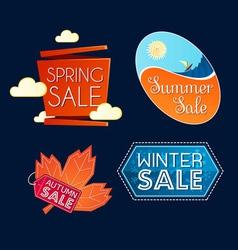 various seasonal sale event tittle vector image