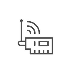 Wi-fi adapter line outline icon vector