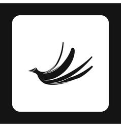 Banana peel icon simple style vector image