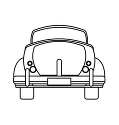 classic car travel image outline vector image vector image